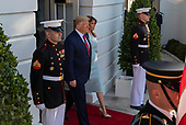 U.S. President Donald Trump and First Lady Melania Trump welcome Australian Prime Minister Scott Morrison and Mrs. Morrison to the White House in Washington for an official visit on September 20, 2019.<br /> Credit: Tasos Katopodis / Pool via CNP
