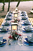 Dining alfresco, table setting