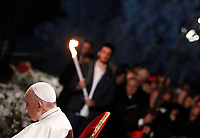 Pope Francis presides over the Via Crucis (Way of the Cross) on Good Friday, in front of the Colosseum, in Rome, April 19, 2018.<br /> UPDATE IMAGES PRESS/Riccardo De Luca<br /> <br /> STRICTLY ONLY FOR EDITORIAL USE Pope Francis presides over the Via Crucis (Way of the Cross) on Good Friday, in front of the Colosseum, in Rome, April 19, 2019.<br /> UPDATE IMAGES PRESS/Riccardo De Luca<br /> <br /> STRICTLY ONLY FOR EDITORIAL USE