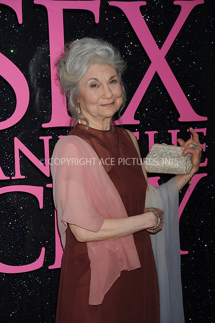 WWW.ACEPIXS.COM . . . . .......May 27, 2008. New York City.....Actress Lynn Cohen attends the 'Sex and the City' premiere held at Radio City Music Hall...  ....Please byline: Kristin Callahan - ACEPIXS.COM..... *** ***..Ace Pictures, Inc:  ..Philip Vaughan (646) 769 0430..e-mail: info@acepixs.com..web: http://www.acepixs.com