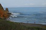 Surf fishermen at Rockaway Beach