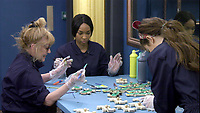 Amanda Barrie, Malika Haqq and Jess Impiazzi.<br /> Celebrity Big Brother 2018 - Day 10<br /> *Editorial Use Only*<br /> CAP/KFS<br /> Image supplied by Capital Pictures