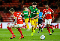 Preston North End's Sean Maguire goes past Middlesbrough's Aden Flint<br /> <br /> Photographer Alex Dodd/CameraSport<br /> <br /> The EFL Sky Bet Championship - Middlesbrough v Preston North End - Wednesday 13th March 2019 - Riverside Stadium - Middlesbrough<br /> <br /> World Copyright &copy; 2019 CameraSport. All rights reserved. 43 Linden Ave. Countesthorpe. Leicester. England. LE8 5PG - Tel: +44 (0) 116 277 4147 - admin@camerasport.com - www.camerasport.com