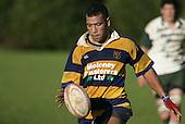 Jeff Maka about to make a chip kick. Counties Manukau Premier Club Rugby, Patumahoe vs Manurewa played at Patumahoe on Saturday 6th May 2006. Patumahoe won 20 - 5.