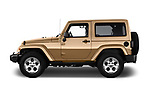Car Driver side profile view of a 2017 JEEP wrangler Sahara 5 Door SUV Side View
