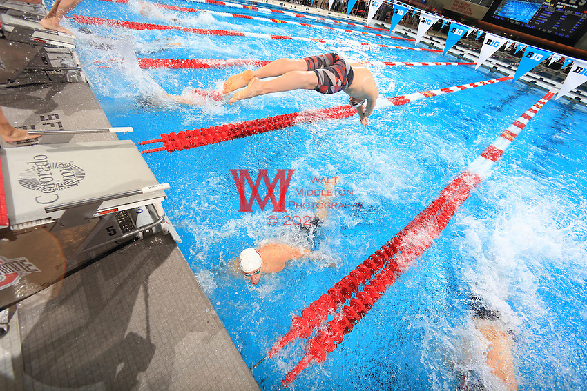 The Indiana University men's swimming and diving team compete at the 2017 men's Big Ten Championships at the Ohio State University. February 23, 2017.<br /> (Photo by Walt Middleton Photography 2017)
