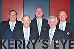 FAI: Kerry Schoolboys representatives at the FAI banquet.in Killarney on Friday. L-r: Padraig Hartnett, Maurice Gilfoyle,.Noel White, Denny Hayes and Tom Tobin.