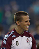 Colorado Rapids midfielder Wells Thompson (15). In a Major League Soccer (MLS) match, the New England Revolution tied the Colorado Rapids, 0-0, at Gillette Stadium on May 7, 2011.