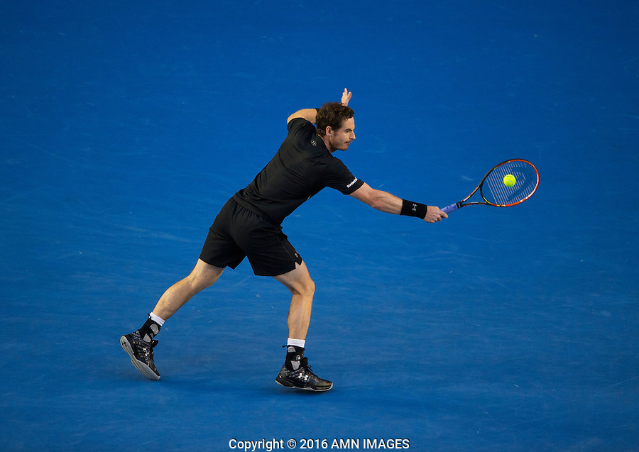 ANDY MURRAY (GBR)<br /> <br /> TENNIS - GRAND SLAM ITF / ATP  / WTA - Australian Open -  Melbourne Park - Melbourne - Victoria - Australia  - 31 January 2016<br /> <br /> &copy; AMN IMAGES