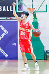 Tsang Cham Yuen #24 of Nam Ching Basketball Team dribbles the ball up court against the Eagle during the Hong Kong Basketball League game between Eagle and Nam Ching at Southorn Stadium on June 22, 2018 in Hong Kong. Photo by Yu Chun Christopher Wong / Power Sport Images
