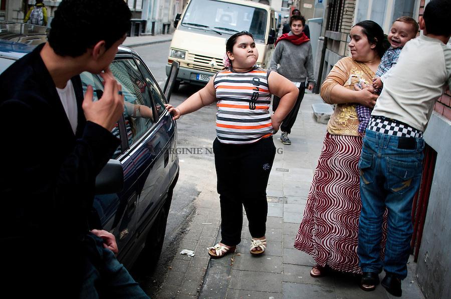 Maria et sa famille dans le Quartier nord de Bruxelles.