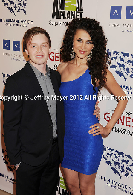 BEVERLY HILLS, CA - MARCH 24: Noel Fisher and Layla Alizada attend the 26th Genesis Awards at The Beverly Hilton Hotel on March 24, 2012 in Beverly Hills, California.