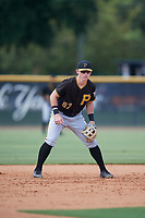 Pittsburgh Pirates third baseman Patrick Dorrian (67) during a Florida Instructional League game against the New York Yankees on September 25, 2018 at Yankee Complex in Tampa, Florida.  (Mike Janes/Four Seam Images)