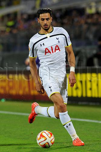 26.02.2015.  Florence, Italy. Europa League Football. Fiorentina versus Tottenham Hotspur.Nabil Bentaleb in action