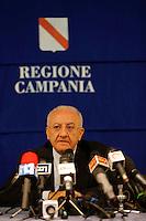 Conferenza stampa del Governatore della regione Campania Vincenzo De Luca , sull' avviso di garanzia ricevuto dalla procura di Roma per corruzione