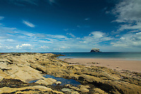 Bass Rock from Canty Bay, near North Berwick, East Lothian