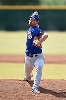 Chicago Cubs pitcher Michael Knighton (81) during an Instructional League intersquad game on October 9, 2014 at Cubs Park Complex in Mesa, Arizona.  (Mike Janes/Four Seam Images)