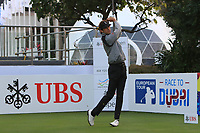 Pedro Oriol (ESP) on the 1st tee during Round 1 of the UBS Hong Kong Open, at Hong Kong golf club, Fanling, Hong Kong. 23/11/2017<br /> Picture: Golffile | Thos Caffrey<br /> <br /> <br /> All photo usage must carry mandatory copyright credit     (&copy; Golffile | Thos Caffrey)