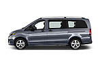 Car Driver side profile view of a 2016 Mercedes Benz Metris Passenger-Van 5 Door Passenger Van Side View