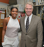CORAL GABLES, FL - OCTOBER 27: Actor/ Gabrielle Union and Steve Moss backstage after Gabrielle conversation with Isis Miller and signs copies of her book 'Gabrielle Union: We're Going to Need More Wine Stories' Real Life Book Club Tour and at Books and Books on October 27, 2017 in Coral Gables, Florida. ( Photo by Johnny Louis / jlnphotography.com )