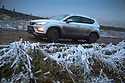 27/01/17<br /> <br /> A Seat Ateca 4x4 makes its way along an ice encrusted lane near Buxton in the Derbyshire Peak District.<br /> <br /> All Rights Reserved F Stop Press Ltd. (0)1773 550665 www.fstoppress.com