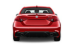 Straight rear view of 2018 Alfa Romeo Guilia Auto 4 Door Sedan stock images