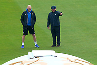 Umpire Ian Gould (R) and Yorkshire head coach Andrew Gale inspect the pitch during Yorkshire CCC vs Essex CCC, Specsavers County Championship Division 1 Cricket at Emerald Headingley Cricket Ground on 15th April 2018