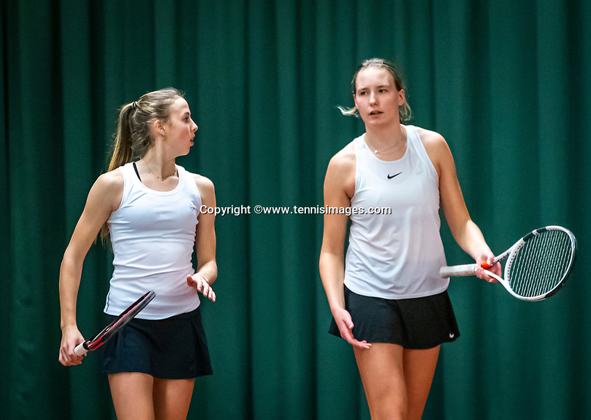 Wateringen, The Netherlands, December 15,  2019, De Rhijenhof , NOJK juniors doubles , Final 12 years years, Rikke de Koning (NED) and Eloise de Mooij (NED) (R)<br /> Photo: www.tennisimages.com/Henk Koster