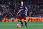 17.01.2016 Camp Nou, Barcelona, Spain. La Liga day 20 march between FC Barcelona and Athletic Club. Andres Iniesta