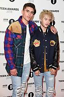 LONDON, UK. October 21, 2018: Jack & Jack - Jack Johnson & Jack Gilinsky - at tthe BBC Radio 1 Teen Awards 2018 at Wembley Stadium, London.<br /> Picture: Steve Vas/Featureflash