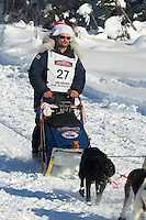 Hugh Neff on Long Lake at the Re-Start of the 2012 Iditarod Sled Dog Race