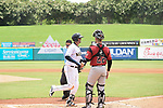 The New Orleans Babycakes top the Sacramento Rivercats,  9-8, on a walkoff sacrifice fly in the bottom of the 9th at the Shrine on Airline (Metairie, LA).  June 19,2018. The New Orleans Babycakes top the Sacramento Rivercats,  9-8, on a walkoff sacrifice fly in the bottom of the 9th at the Shrine on Airline (Metairie, LA).  June 19,2018.