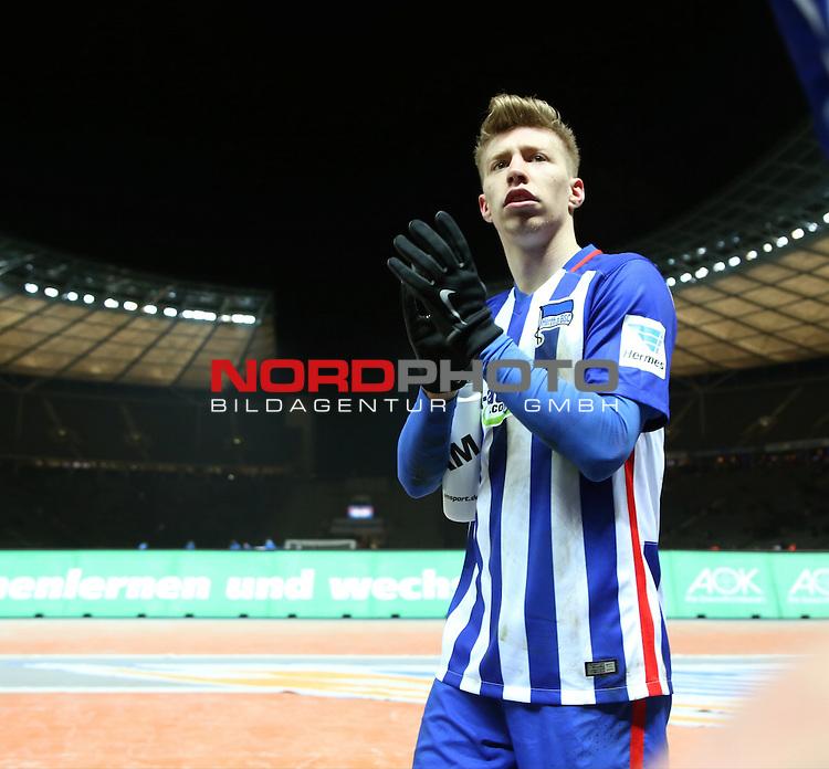 02.03.2016, OLympiastadion, Berlin, GER, 1.FBL, Hertha BSC vs. Eintracht Frankfurt, im Bild <br /> Mitchell Weiser (Hertha BSC Berlin)<br /> <br />       <br /> Foto &copy; nordphoto /  Engler
