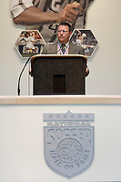 National Soccer Hall of Fame member Rick Davis introducing inductee Michael Windischmann at the 2004 National Soccer Hall of Fame Induction Ceremony on Monday October 11, 2004 at the National Soccer Hall of Fame and Museum, Oneonta, NY...