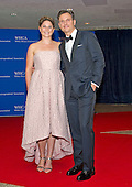 Actor Tony Goldwyn, right, and unidentified guest  arrive for the 2016 White House Correspondents Association Annual Dinner at the Washington Hilton Hotel on Saturday, April 30, 2016.<br /> Credit: Ron Sachs / CNP<br /> (RESTRICTION: NO New York or New Jersey Newspapers or newspapers within a 75 mile radius of New York City)