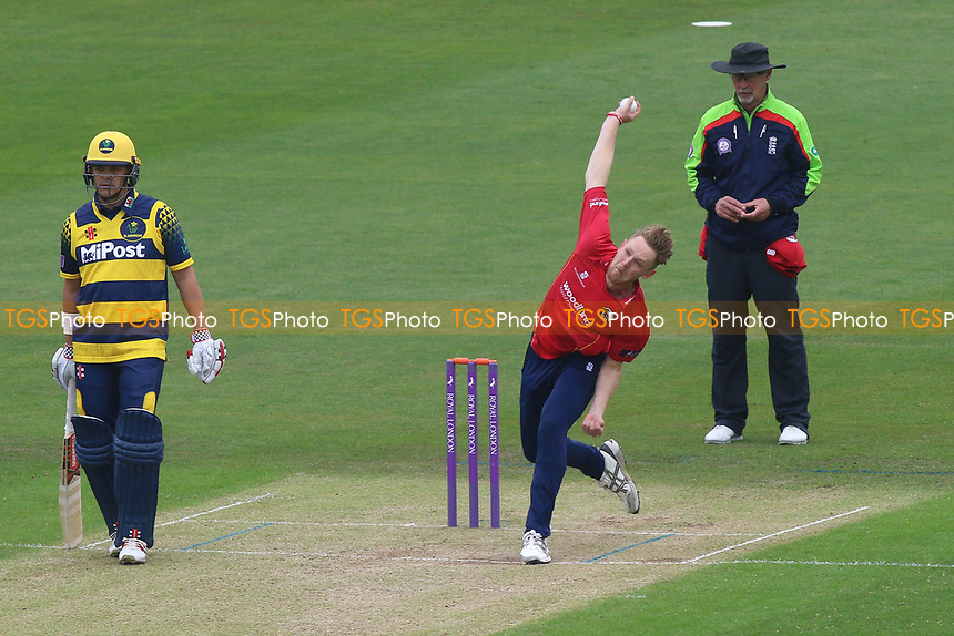Jamie Porter in bowling action for Essex during Glamorgan vs Essex Eagles, Royal London One-Day Cup Cricket at the SSE SWALEC Stadium on 7th May 2017