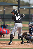 Chicago White Sox first baseman Anthony Villa (46) during a Minor League Spring Training game against the Chicago White Sox at Camelback Ranch on March 16, 2018 in Glendale, Arizona. (Zachary Lucy/Four Seam Images)