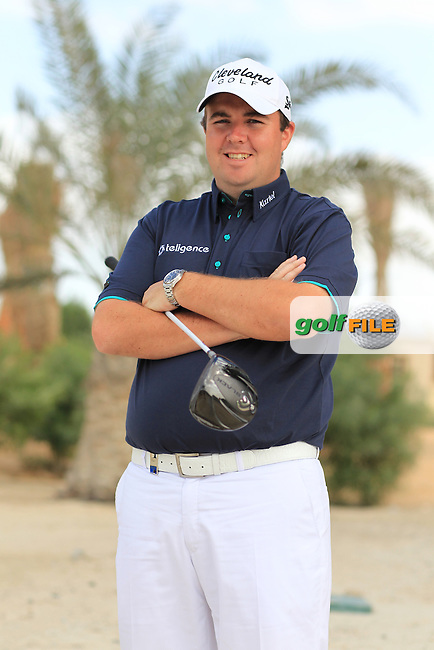 Shane Lowry showing off his new cartel attire at the Abu Dhabi HSBC Golf Championship in the Abu Dhabi golf club, Abu Dhabi, UAE..Picture: Fran Caffrey/www.golffile.ie.
