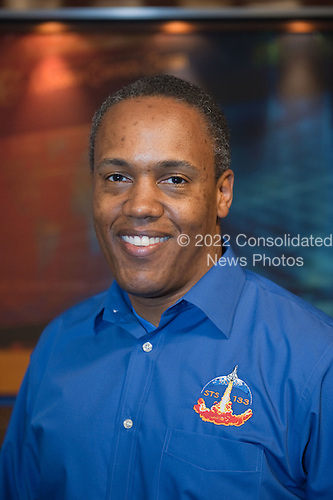 National Aeronautics and Space Administration (NASA) astronaut Alvin Drew, STS-133 mission specialist, poses for a portrait following a preflight press conference at NASA's Johnson Space Center in Houston, Texas on Thursday, October 21, 2010.  STS-133, aboard the Space Shuttle Discovery, is scheduled for launch Monday, November 1, 2010 at 4:40 p.m. EDT..Mandatory Credit: James Blair / NASA via CNP.