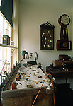 Interior of clockmaker's shop, Harpers Ferry National Historical Park, West Virginia, USA