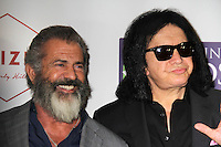 BEVERLY HILLS, CA - OCTOBER 21: Mel Gibson, Gene Simmons at the World Poker Tournament's Four Kings And An Ace Charity Event at Citizen in Beverly Hills, California on October 21, 2016. Credit: David Edwards/MediaPunch