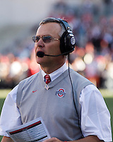 07 October 2006: Jim Tressel..The Ohio State Buckeyes defeated the Bowling Green Falcons 35-7 at Ohio Stadium, Columbus, Ohio.