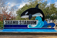 Shamu Stadium at Seaworld marine park, Orlando Florida, USA.