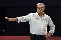 CAMPAGNA Alessandro coach of Italy   <br /> Budapest 26/01/2020 Duna Arena <br /> ITALY (white caps) Vs. SERBIA (blue caps) Men <br /> Final 5th - 6th place <br /> XXXIV LEN European Water Polo Championships 2020<br /> Photo  © Andrea Staccioli / Deepbluemedia / Insidefoto
