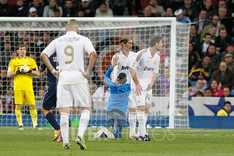 Real Madrid's Sergio Ramos during la Liga match on march 18th 2012...Photo: Alex Cid-Fuentes / ALFAQUI