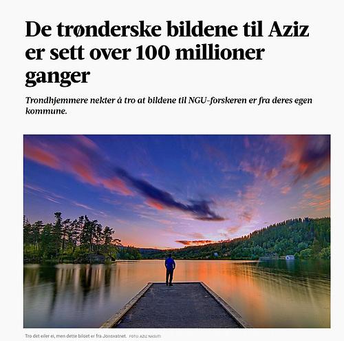 De trønderske bildene til Aziz er sett over 100 millioner ganger