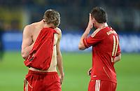 FUSSBALL   1. BUNDESLIGA   SAISON 2011/2012   30. SPIELTAG Borussia Dortmund - FC Bayern Muenchen            11.04.2012 Holger Badstuber (li) und Ivica Olic (re, beide Bayern) sind nach dem Abpfiff enttaeuscht