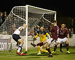 22.11.2019 Linlithgow Rose v Falkirk: Conor Sammon appeals for handball in box
