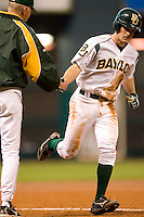 Baylor shortstop Beamer Weems (1) rounds third base following his solo home run in the 6th inning versus Vanderbilt at the 2007 Houston College Classic at Minute Maid Park in Houston, TX, Sunday, February 11, 2007.  The Commodores defeated the Bears by the score of 7-4.