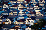 Aerial view of San Francisco Homes at Sunset